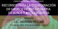 RECURSOS PARA LA COORDINACIÓN DE GRUPOS DE PSICOTERAPIA DE NIÑOS Y ADOLESCENTES