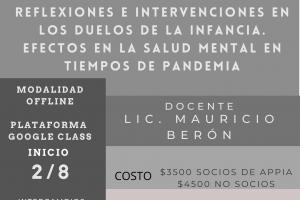 Reflexiones e intervenciones en los duelos de la infancia. Efectos en la salud mental en tiempos de pandemia