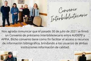 Convenio de Servicio de Préstamo Interbibliotecario AUDEPP // APPIA