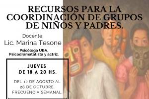 RECURSOS PARA LA COORDINACIÓN DE GRUPOS DE NIÑOS Y PADRES.